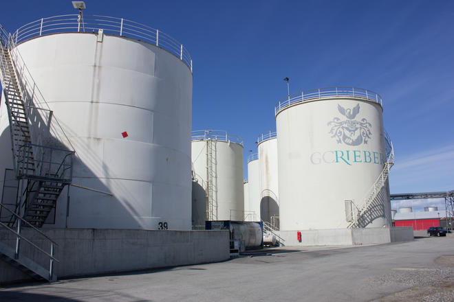 Tank park at GC Rieber Distribution