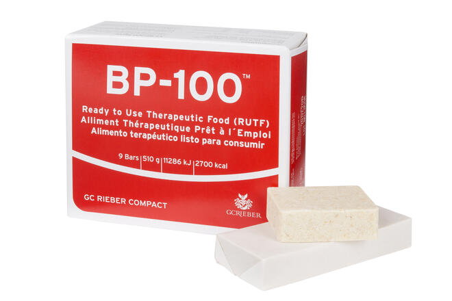 BP-100 packet with food